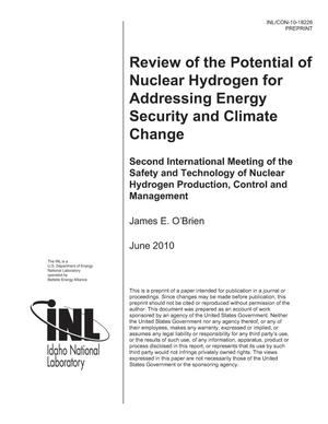 Primary view of object titled 'REVIEW OF THE POTENTIAL OF NUCLEAR HYDROGEN FOR ADDRESSING ENERGY SECURITY AND CLIMATE CHANGE'.