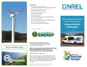 Primary view of object titled 'NREL's Hydrogen-Powered Bus Serves as Showcase for Advanced Vehicle Technologies (AVT) (Brochure)'.