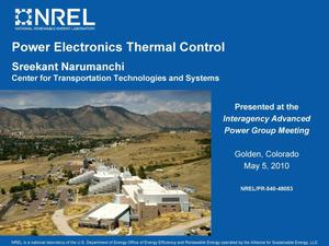 Primary view of object titled 'Power Electronics Thermal Control (Presentation)'.