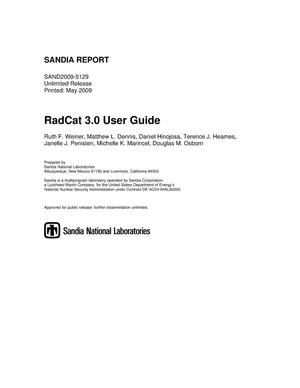 Primary view of object titled 'RadCat 3.0 user guide.'.