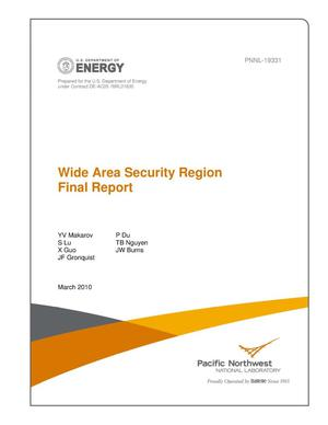 Primary view of object titled 'Wide Area Security Region Final Report'.