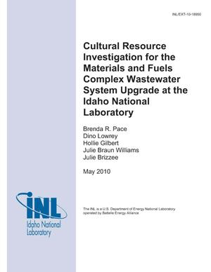 Primary view of object titled 'Cultural Resource Investigation for the Materials and Fuels Complex Wastewater System Upgrade at the Idaho National Laboratory'.