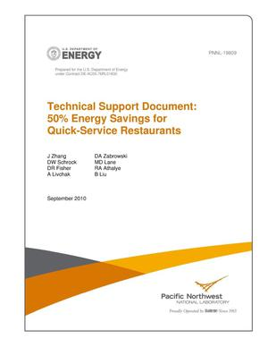 Primary view of object titled 'Technical Support Document: 50% Energy Savings for Quick-Service Restaurants'.