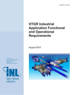 Primary view of object titled 'HTGR Industrial Application Functional and Operational Requirements'.