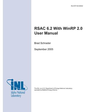 Primary view of object titled 'RSAC 6.2 with WinRP 2.0 User Manual'.