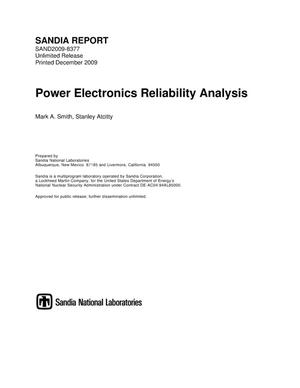 Primary view of object titled 'Power electronics reliability analysis.'.