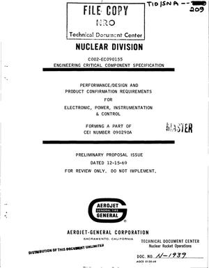 Primary view of object titled 'Performance/design and qualification requirements for electronic, power, instrumentation, and control'.