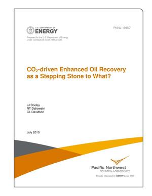 Primary view of object titled 'CO2-driven Enhanced Oil Recovery as a Stepping Stone to What?'.