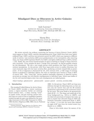 Primary view of object titled 'Misaligned Disks as Obscurers in Active Galaxies'.