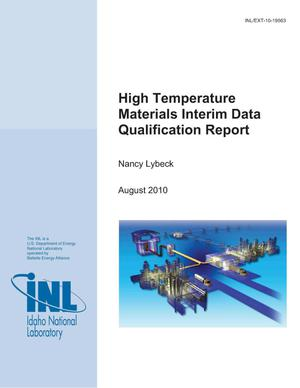 Primary view of object titled 'High Temperature Materials Interim Data Qualification Report'.