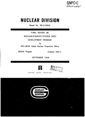 Primary view of object titled 'Final report on nuclear-exhaust-system (NES) development program'.