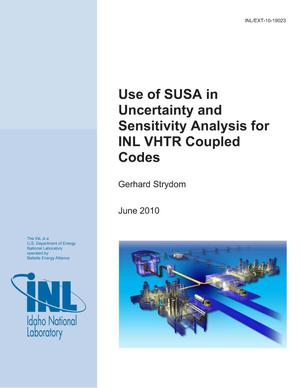 Primary view of object titled 'Use of SUSA in Uncertainty and Sensitivity Analysis for INL VHTR Coupled Codes'.