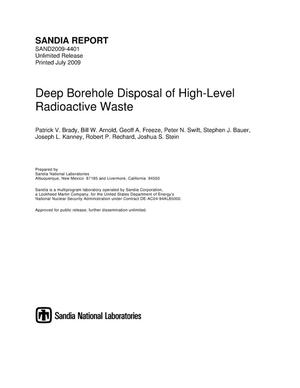 Primary view of object titled 'Deep borehole disposal of high-level radioactive waste.'.