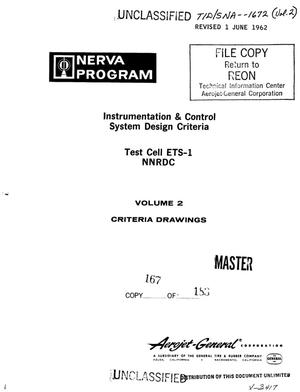 Primary view of object titled 'Instrumentation and control system design criteria. Test cell ETS-1 NNRDC. Volume II. Criteria drawings'.
