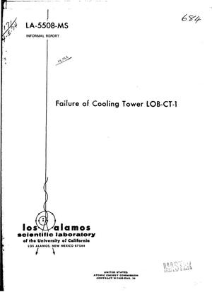 Primary view of Failure of cooling tower LOB-CT-1