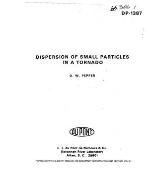 Primary view of object titled 'Dispersion of small particles in a tornado'.