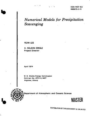 Primary view of object titled 'Numerical models for precipitation scavenging'.