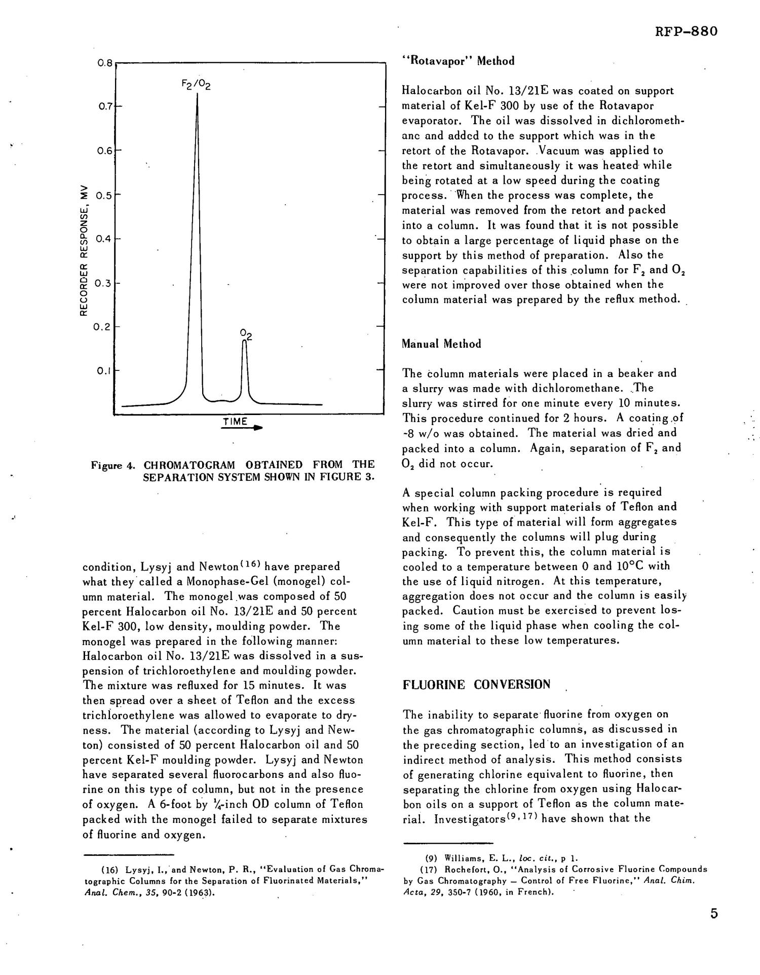 GAS CHROMATOGRAPHIC INVESTIGATIONS FOR THE DETERMINATION OF