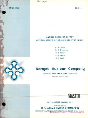Primary view of object titled 'Nuclear structure studies utilizing LAMPF. Annual progress report'.