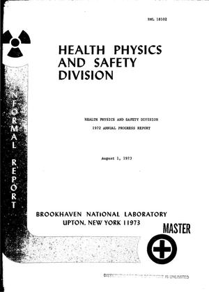 Primary view of object titled 'Health Physics and Safety Division annual progress report, January 1-- December 31, 1972'.