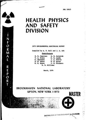 Primary view of 1973 environmental monitoring report