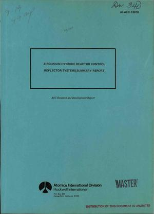 Primary view of object titled 'Zirconium hydride reactor control reflector systems: summary report'.