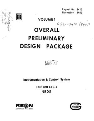 Primary view of object titled 'Overall preliminary design package. Volume I. Instrumentation and control system: test cell ETS-1, NRDS'.