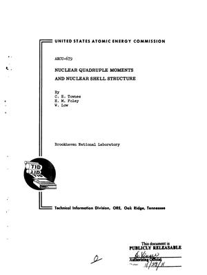 Primary view of object titled 'Nuclear Quadrupole Moments and Nuclear Shell Structure'.