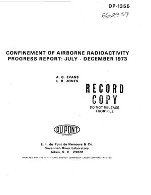 Primary view of object titled 'Confinement of airborne radioactivity. Progress report: July--December 1973'.