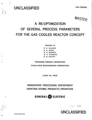 Primary view of object titled 'A Re-Optimization of Several Process Parameters for the Gas Cooled Reactor Concept'.