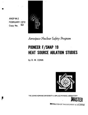 Primary view of object titled 'Pioneer F/SNAP 19 heat source ablation studies'.