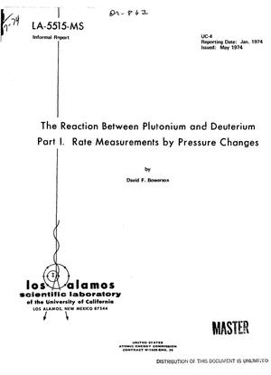 Primary view of object titled 'Reaction between plutonium and deuterium. Part I. Rate measurements by pressure changes'.