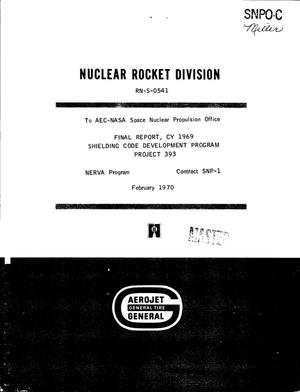 Primary view of object titled 'Final report, CY 1969. Shielding code development program, project 393'.
