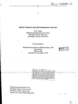 Primary view of object titled 'Recent trends in reactor shielding in the USA'.