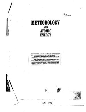 Primary view of object titled 'METEOROLOGY AND ATOMIC ENERGY'.