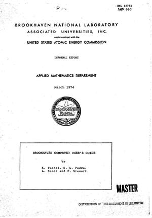 Primary view of object titled 'Brookhaven computer user's guide'.