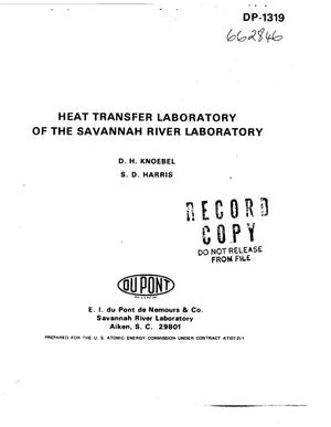 Primary view of object titled 'Heat Transfer Laboratory of the Savannah River Laboratory'.