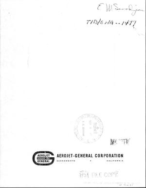 Primary view of object titled 'SNP-1SA3 contract monthly letter report for the period 27 September 1963-- 26 October 1963'.