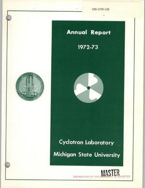 Primary view of object titled 'Annual report, July 1, 1972--July 1, 1973'.