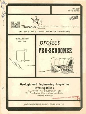 Primary view of object titled 'Geologic and Engineering Properties Investigations'.