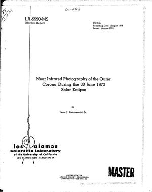 Primary view of object titled 'Near infrared photography of the outer corona during the 30 June 1973 solar eclipse'.