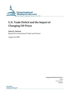 Primary view of object titled 'U.S. Trade Deficit and the Impact of Changing Oil Prices'.