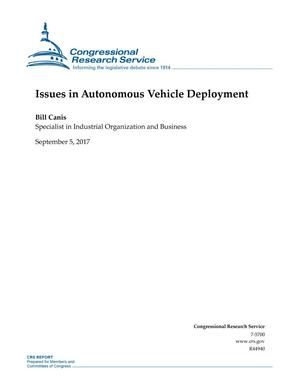 Primary view of object titled 'Issues in Autonomous Vehicle Deployment'.