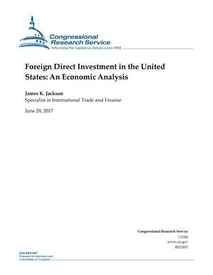 Primary view of object titled 'Foreign Direct Investment in the United States: An Economic Analysis'.