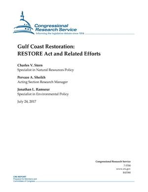 Primary view of object titled 'Gulf Coast Restoration: RESTORE Act and Related Efforts'.