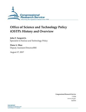 Primary view of Office of Science and Technology Policy (OSTP): History and Overview