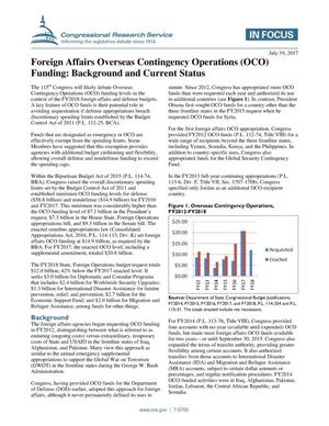 Primary view of object titled 'Foreign Affairs Overseas Contingency Operations (OCO) Funding: Background and Current Status'.