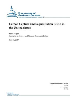 Primary view of object titled 'Carbon Capture and Sequestration (CCS) in the United States'.