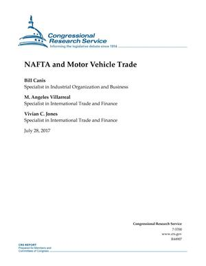 Primary view of object titled 'NAFTA and Motor Vehicle Trade'.