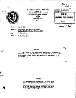 Primary view of object titled 'EUROCHEMIC ASSISTANCE PROGRAM: STATUS REPORT AS OF APRIL 1, 1959'.